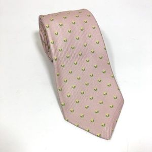 Kiton Napoli 7 Fold Pink Floral Silk Neck Tie